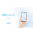 online hotel booking landing page template banner vector image vector image