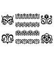 Ornamental elements vector image vector image