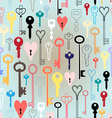 pattern of different keys vector image