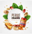 peanut butter circle composition vector image vector image