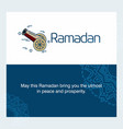 ramadan kareem background calligraphy greeting vector image vector image