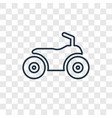 ride on toy concept linear icon isolated on vector image