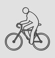 riding bicycle vector image vector image