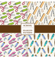 Seamless School or Office Supplies Pattern set Thi vector image vector image