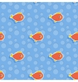 seamless sea pattern with smiling red fish vector image vector image