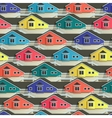 Seamless town pattern with bright house facade vector image