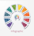 semicircle diagram with ten multicolored elements vector image vector image