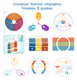 set infographics conceptual cyclic processes vector image vector image