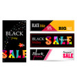 setbanner with text sale black friday vector image