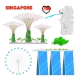 Singapore Travel Doodle with Architecture vector image vector image