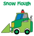 Snow plough collection art vector image vector image