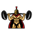 strong powerlifting bodybuilding spartan athlete vector image