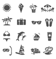 Summer And Travel Icons Set vector image vector image