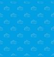 tennis bag pattern seamless blue vector image vector image