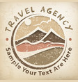 travel logo grunge vector image vector image