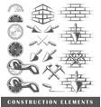 vintage construction elements vector image vector image