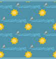 weather seamless pattern sea vector image vector image