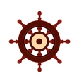 Wooden ship wheel icon vector image