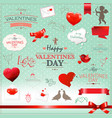 big set valentines day collection vector image