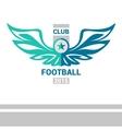 logo template soccer football team Wings vector image