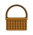 wicker basket icon image vector image