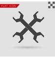 Wrench icon Flat Style with red vector image