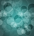 Abstract green background with circles vector image vector image