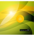 Abstract modern yellow wave template vector image vector image