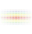 air plane spectral halftone array vector image