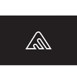 Alphabet letter A line art logo icon design vector image