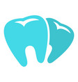 bad tooth logo icon flat style vector image vector image