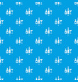 bar pattern seamless blue vector image vector image
