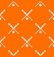 baseball bat and ball pattern seamless vector image vector image