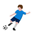 boy playing soccer - isolated on white background vector image vector image