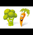 broccoli and carrot vector image vector image