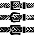 Buckle braided belt black symbols