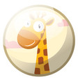 cartoon character of a yellow giraffe with brown vector image