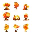 Cartoon explosion effect set Explode flash vector image vector image
