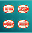 casino jackpot the winner big win banners vector image vector image