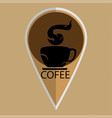 coffee cup flat icon tea cup vector image