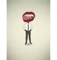 Conceptual poster The businessman Mouth vector image vector image