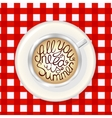 Cup of Coffee Mockup Template with Lettering vector image vector image