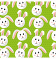 cute bunny animal furry cartoon pattern vector image