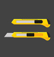 cutter knife blade paper craft utility vector image