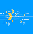 cyber monday minimalistic on blue vector image