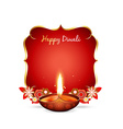 diwali greeting vector image vector image