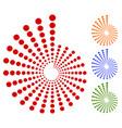 dots circles circular motif element radiating vector image vector image