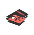 driving license isometric icon vector image