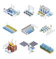 Electricity Generation Plants Images Set vector image