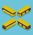 flat 3d isometric public transport bus service vector image vector image